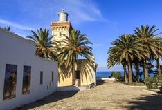 Chapeau Spartel à Tanger, Maroc Photos stock