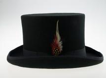 Chapeau supérieur avec la plume Image libre de droits