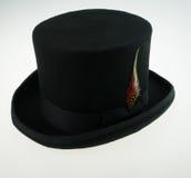 Chapeau supérieur avec la plume Image stock