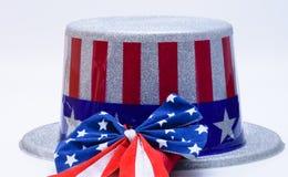 Chapeau supérieur des Etats-Unis avec le ruban de drapeau Images libres de droits