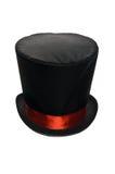 Chapeau supérieur noir avec le ruban rouge Photo libre de droits