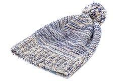 Chapeau tricoté coloré d'hiver sur un blanc Image stock
