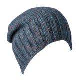 Chapeau tricoté d'isolement sur le fond blanc Chapeau coloré Photo libre de droits