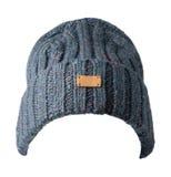 Chapeau tricoté d'isolement sur le fond blanc Chapeau coloré Photos stock
