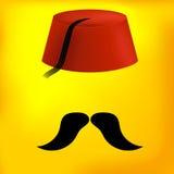 Chapeau turc rouge illustration de vecteur
