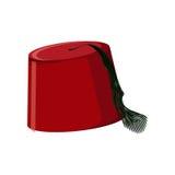Chapeau turc traditionnel Fez ou tarboosh illustration de vecteur