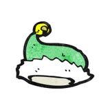 chapeau vert de Noël de bande dessinée Images stock
