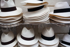 Chapeaux blancs Photo libre de droits