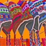 chapeaux cololrful de chullo Image libre de droits