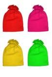 Chapeaux colorés de laines pour des gosses Photographie stock