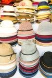 Chapeaux dans un magasin de chapeau dans Pékin Chine Photos stock