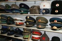 Chapeaux de bonnet à poils Photographie stock libre de droits