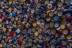 Chapeaux de bouteille à bière Images libres de droits
