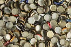 Chapeaux de bouteille à bière Photo stock
