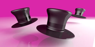 Chapeaux de cylindre Photo stock