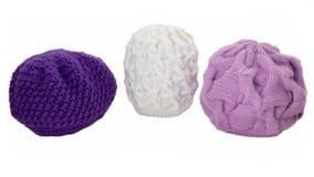 Chapeaux de laine tricotés Photographie stock libre de droits