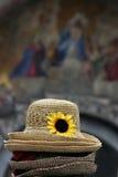 Chapeaux de paille à Venise Photos libres de droits