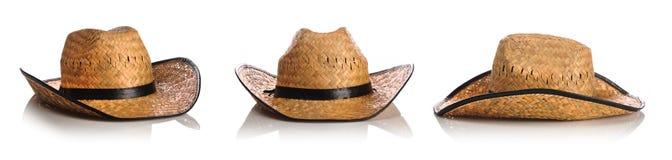 Chapeaux de paille Photographie stock