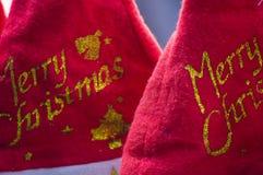 Chapeaux de Santa pour Noël photo libre de droits
