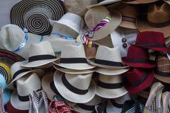 Chapeaux de Sun à vendre, Carthagène, Colombie Image stock