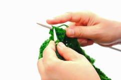 Chapeaux de tricotage de laine à la main Image libre de droits