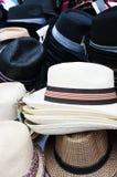 Chapeaux du marché Photo libre de droits