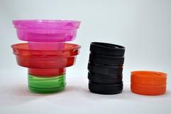 chapeaux en plastique Image stock
