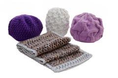 Chapeaux et écharpe Photo stock