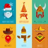 Chapeaux et accessoires Mini Posters Image stock