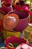 Chapeaux et paniers Photo libre de droits