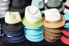 Chapeaux masculins de paille Image libre de droits