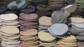 Chapeaux plats de tissu photos stock