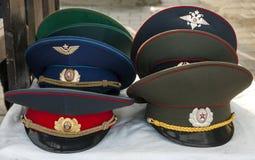 Chapeaux soviétiques d'armée images libres de droits