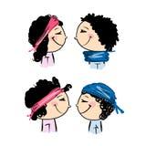 Chapeaux transformateur, manières de l'habillage pour des garçons et filles Images stock