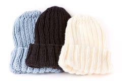 Chapeaux tricotés Photos libres de droits