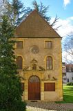 Chapel. Mariner limestone chapel at the roanne port in france Stock Image