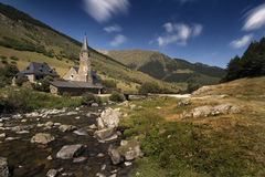 Chapel. Small hermitage in the mountains royalty free stock images