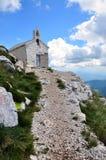 Chapel. Sveti Jure in Croatia. National park Biokovo royalty free stock image