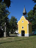 Chapel. In the czech village Holasovice Stock Photos