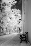Chapel. Small chapel in Karya Greece,infrared Royalty Free Stock Photo