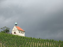 Chapel. A chapel and vineyards in Prague Royalty Free Stock Photo