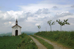 Chapel above the village Menik near Litovel. Small Chapel above the village Menik near Litovel, Czech Republic royalty free stock photography