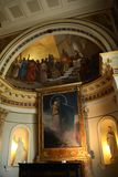 Chapel of the Achilleion Palace royalty free stock images