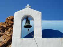 Traditional chapel in Serifos island stock images