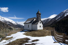 Chapel at the Alp Islitzer, East Tyrol, Austria Royalty Free Stock Image