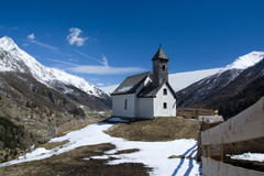 Chapel at the Alp Islitzer, East Tyrol, Austria Stock Photography