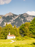 Chapel in the alps of Bavria Stock Image