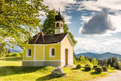 Chapel in the alps of Bavria Stock Photo