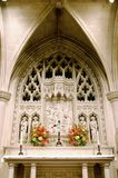 Chapel Altar. Altar in cathedral chapel during a memorial Royalty Free Stock Photo