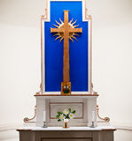 A chapel altar Royalty Free Stock Photography